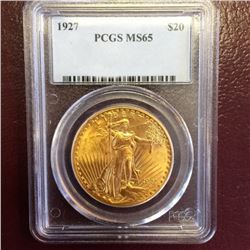 1927 MS 65 PCGS $20 Saint Gauden Double Eagle