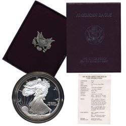 1986 US Silver Eagle proof 1st year Issue