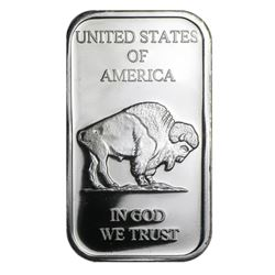 1 oz. Buffalo Design Silver Bar .999 Pure