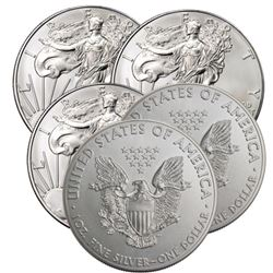 (5) US Silver Eagles Random Dates