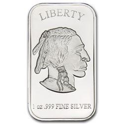 1 oz Buffalo Design Silver Bar .999 Pure