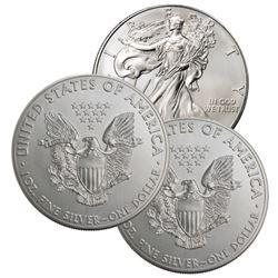 (3) US Silver Eagles - Random Dates