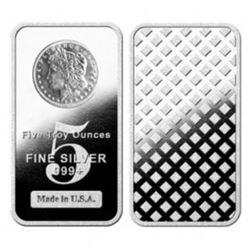 5 oz. Silver Morgan Design Bar - Pure