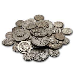 $10 Face Value - 90% Mixed Silver Random