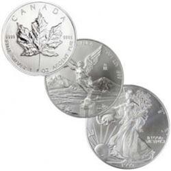 North American 1 oz Silver Bullion Lot