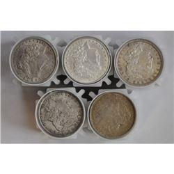 (100) Morgan Silver Dollars-XF Plus in Rolls