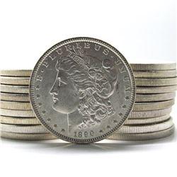 Lot of (20) Pre 1900 BU Morgan Silver Dollars