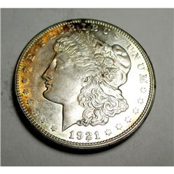 1921 D BU Morgan Silver Dollar