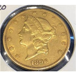 1896 S $20 Gold Liberty XF Grade