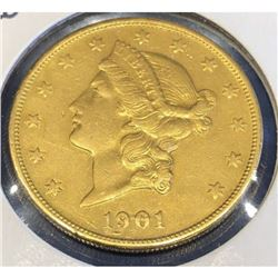 1901 S Better Date $20 Gold Liberty
