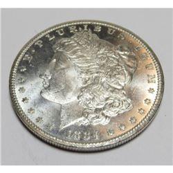 1884  CC DMPL CH BU Key Date  Morgan Dollar