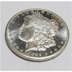 1884 CC CH BU PL Morgan Silver Dollar