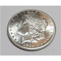 1884 CC CH BU PLUS KEY DATE PL Morgan Dollar