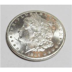 1884 CC CH BU Morgan Silver Dollar PL