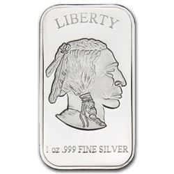 1 oz. Silver Buffalo Bar -.999 Pure