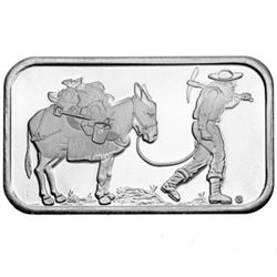 1 oz Prospector Silver Bar - .999 pure