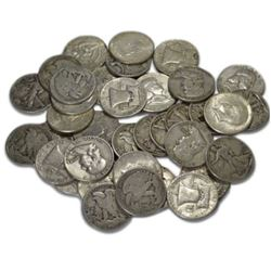 (40) Mixed Type 90% Silver Half Dollar