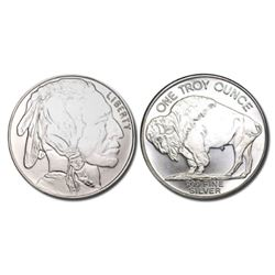 1 oz Buffalo Design Silver Round .999 Pure