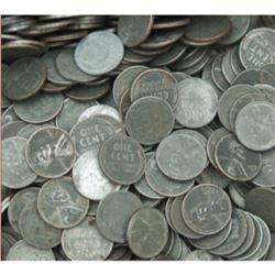100 pcs. WWII Steel Zinc Wheat Back Cents