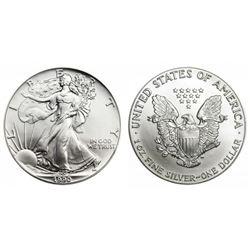 1990 US Silver Eagle BU grade