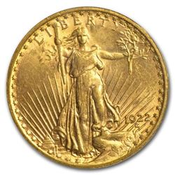 1922 $20 Gold Saint Gaudens AU Grade