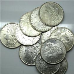 11 pcs. 1890 BU Grade Morgan Silver Dollars