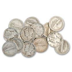 20 pcs. Mercury Dimes 90% Silver