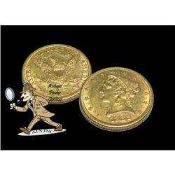 1882 p $5 Gold Liberty Half Eagle Coin