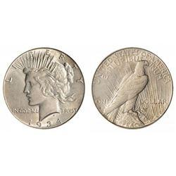 1934 s XF/AU Peace Silver Dollar