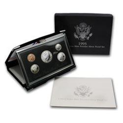 1993 US Premier Proof Set Silver