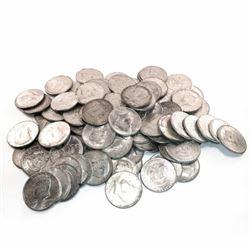 50 pcs. Kennedy Half Dollars 90% Silver