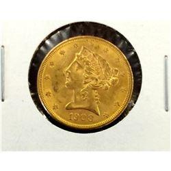5 Pcs. UNC Morgan Silver Dollars - Random