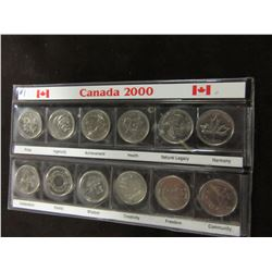 YEAR 2000 CONFEDERATE CANADA MINT QUARTER SET