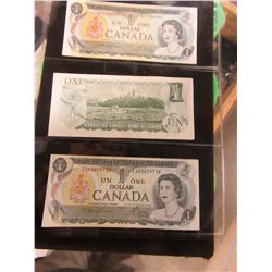 STOCK SHEET CANADA $1 BILLS