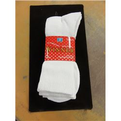 NEW - MEN'S WHITE SOCKS (3 PAIR) - PER BUNDLE
