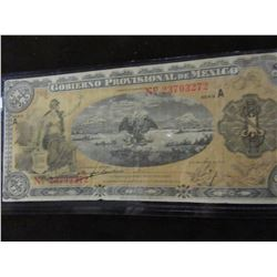 1914 BANK OF MEXICO ONE PESO CURRENCY BANK NOTE