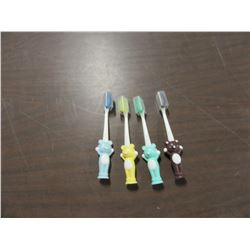 NEW - 4 PACK KIDS TOOTH BRUSH SET