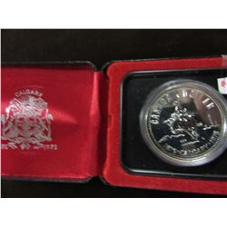 1975 PROOF CASED CALGARY STAMPEDE SILVER DOLLAR