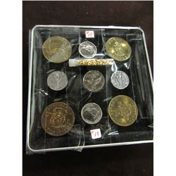 TRAY OF SHELL CANADA & CANADA VICTORY COMMEMORATIVE COINS