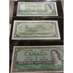 1954 STOCK SHEET LAST OF CANADA $1 BILLS