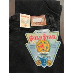 NEW - MEN'S GOLD STAR BLACK JEANS