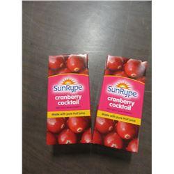 SUNRYPE CRANBERRY COCKTAIL (1 L) - 2 CARTONS