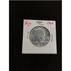 1964 KENNEDY USA SILVER HALF DOLLAR