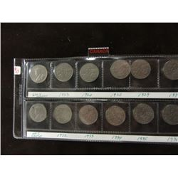 CANADA KING GEORGE V SET OF NICKELS FROM 1923