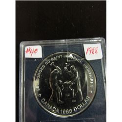 1988 IRON WORKERS CANADA PROOF CASED SILVER DOLLAR