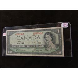 1954 BANK OF CANADA (DEVILS FACE) SCARCE $1 BILL