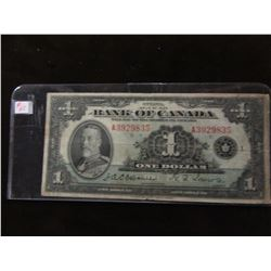 1935 BANK OF CANADA KING GEORGE V SCARCE $1 BILL