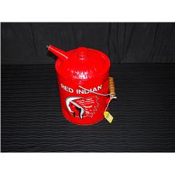 Restored Red Indian Gas Can