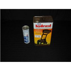Gulfsport 2 Cycle Engine Oil (Full) & Esso Hyraul Hydraulic Tin with Some Contents