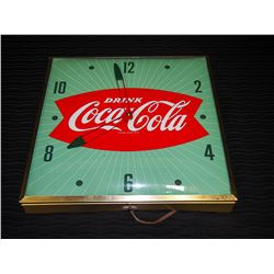 Original PAM Electric Coca-Cola Wall Clock - Working